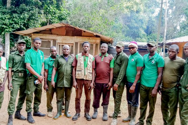 Some of the local community scouts and rangers involved in the project